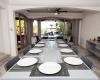 4 BR Trendy Waterfront Villa - Interior - Dining Room